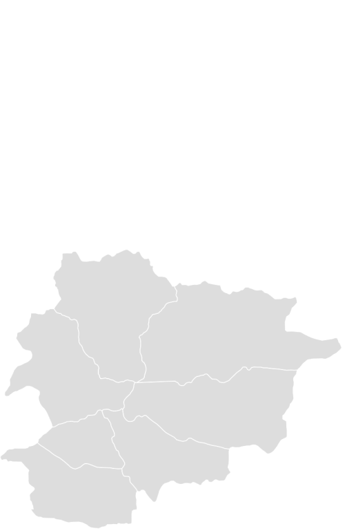 Color Blank Map of ANDORRA with Statistics