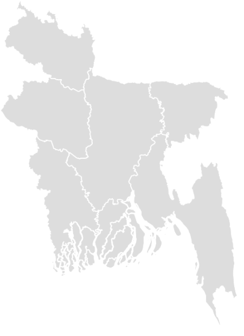 Color Blank Map of BANGLADESH with Statistics