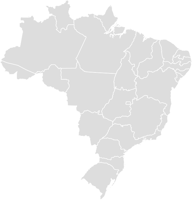 Printable Outline,Blank Map of BRAZIL