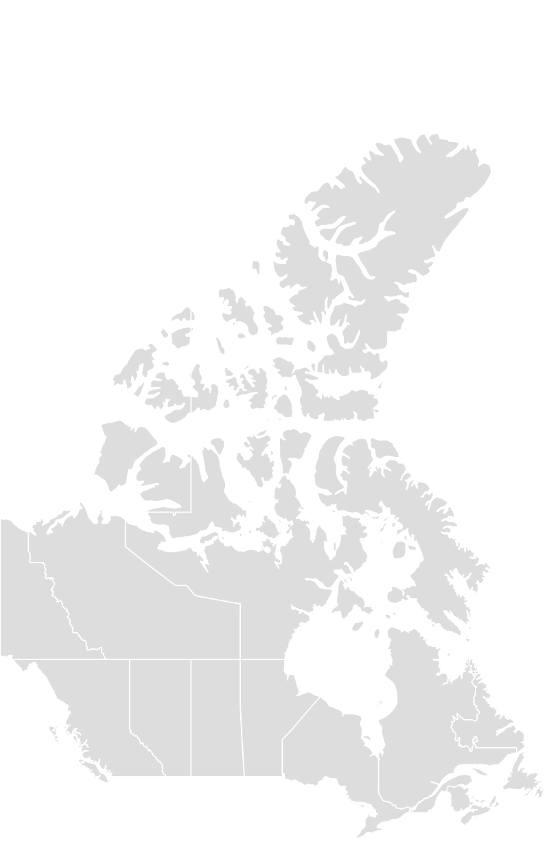 Printable Outline,Blank Map of CANADA