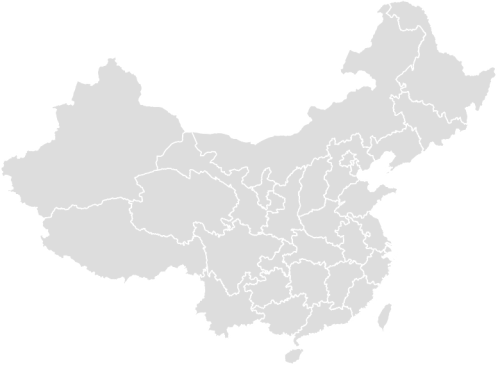 Color Blank Map of CHINA with Statistics
