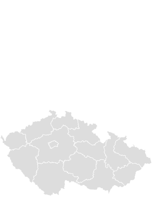 Color Blank Map of CZECH_REPUBLIC with Statistics