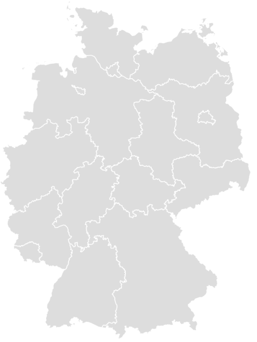 Color Blank Map of GERMANY with Statistics