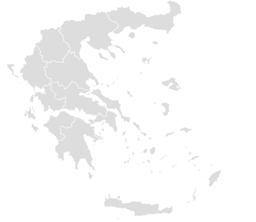 Color Blank Map of GREECE with Statistics