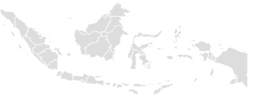 Color Blank Map of INDONESIA with Statistics
