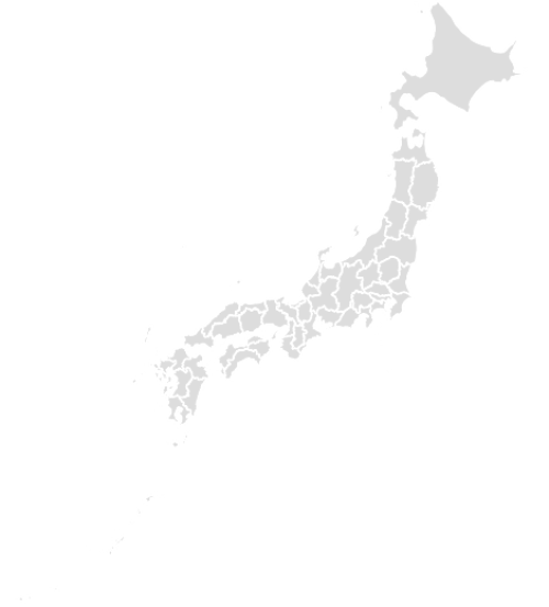 Color Blank Map of JAPAN with Statistics