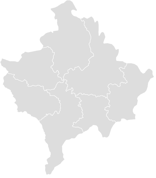 Printable Outline,Blank Map of KOSOVO