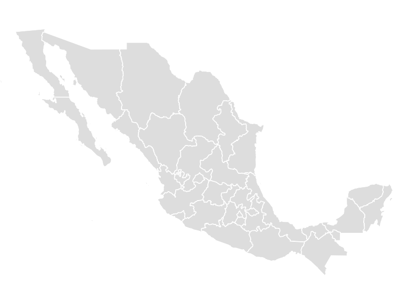 Printable Outline,Blank Map of MEXICO