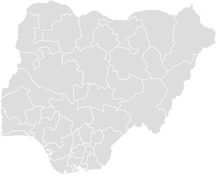Printable Outline,Blank Map of NIGERIA