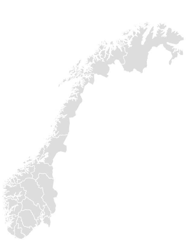 Printable Outline,Blank Map of NORWAY