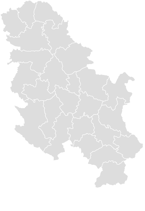 Printable Outline,Blank Map of SERBIA