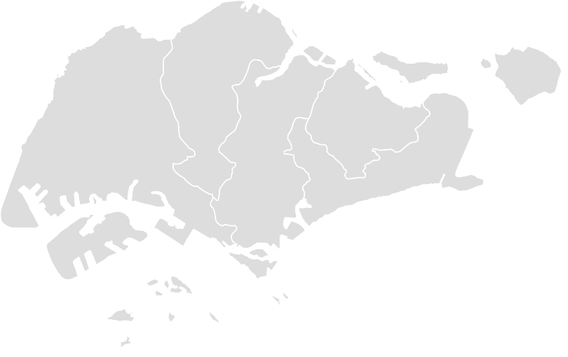 Printable Outline,Blank Map of SINGAPORE