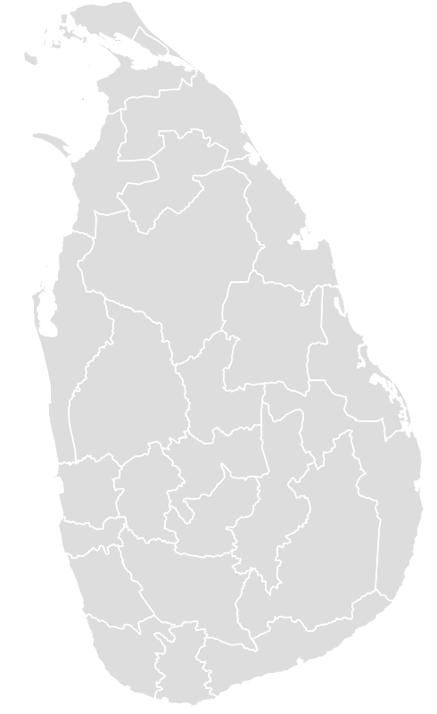 Printable Outline,Blank Map of SRI_LANKA