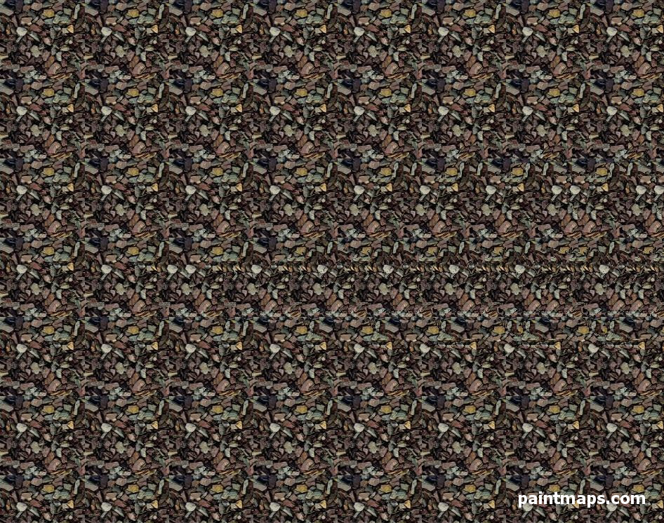AUSTRIA Map in 3D Stereogram (Magic Eye)