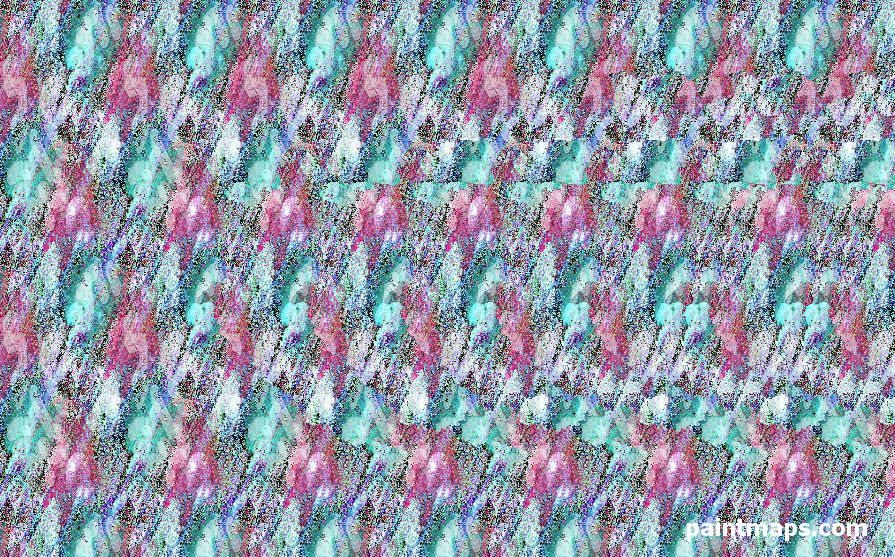 HUNGARY Map in 3D Stereogram (Magic Eye)