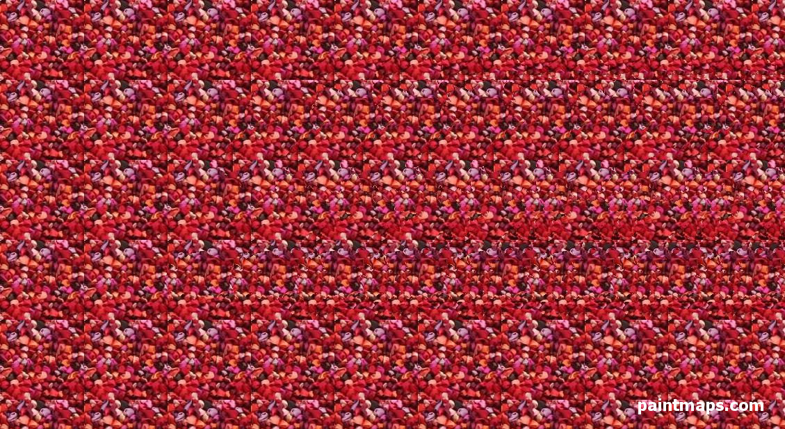 KYRGYZSTAN Map in 3D Stereogram (Magic Eye)