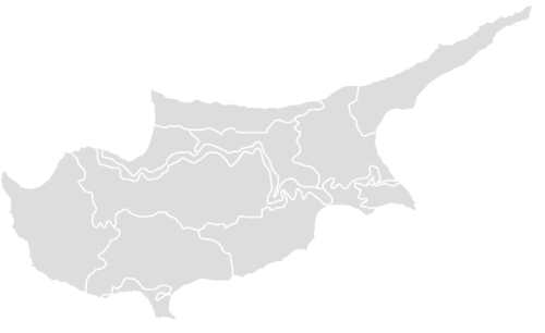 Color Blank Map of CYPRUS with Statistics