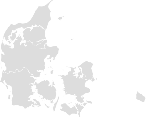 Color Blank Map of DENMARK with Statistics