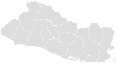 Color Blank Map of EL_SALVADOR with Statistics