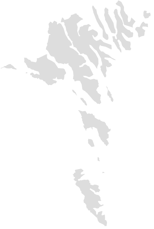Printable Outline , Blank FAROE_ISLANDS Map (Grey Scale)