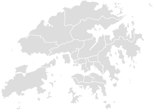 Color Blank Map of HONG_KONG with Statistics