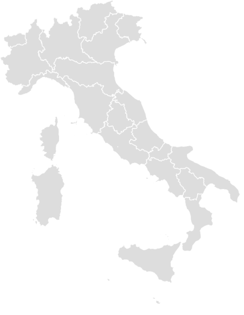 Color Blank Map of ITALY with Statistics