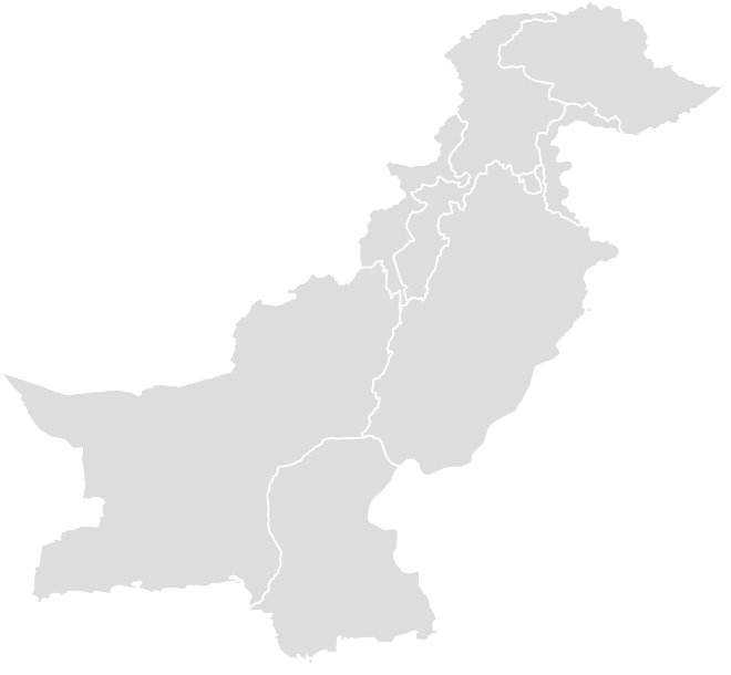 Printable Outline , Blank PAKISTAN Map (Grey Scale)