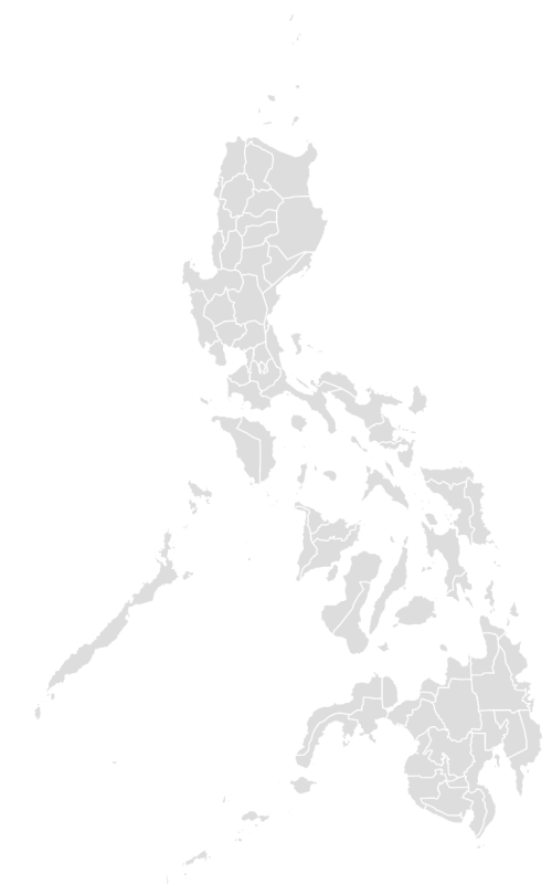 Color Blank Map of PHILIPPINES with Statistics