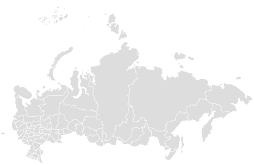 Color Blank Map of RUSSIA with Statistics