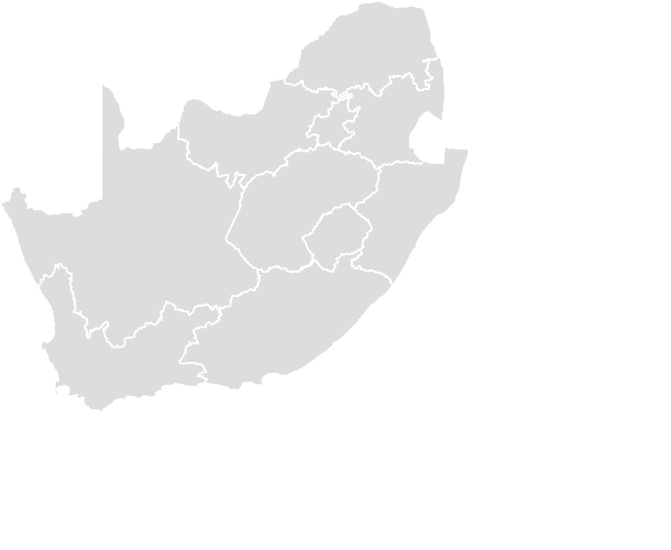 Printable Outline , Blank SOUTH_AFRICA Map (Grey Scale)