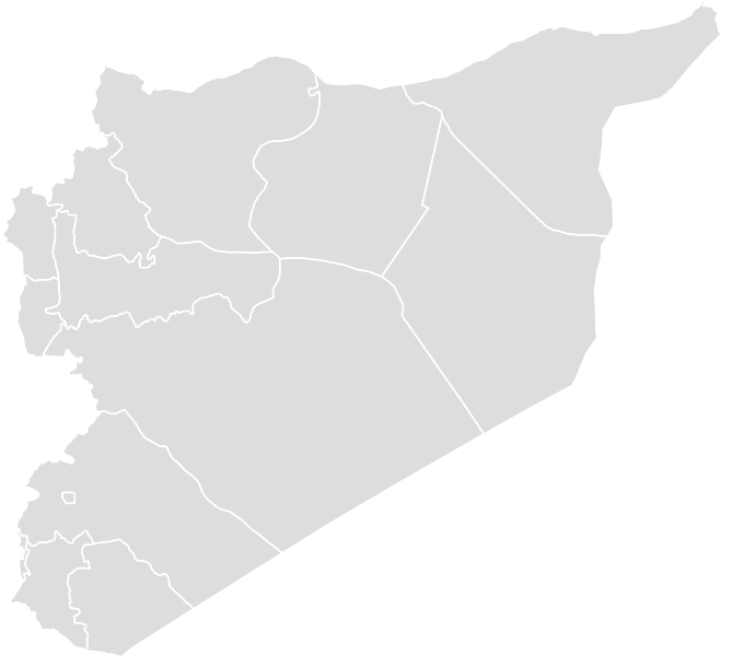 Printable Outline , Blank SYRIA Map (Grey Scale)