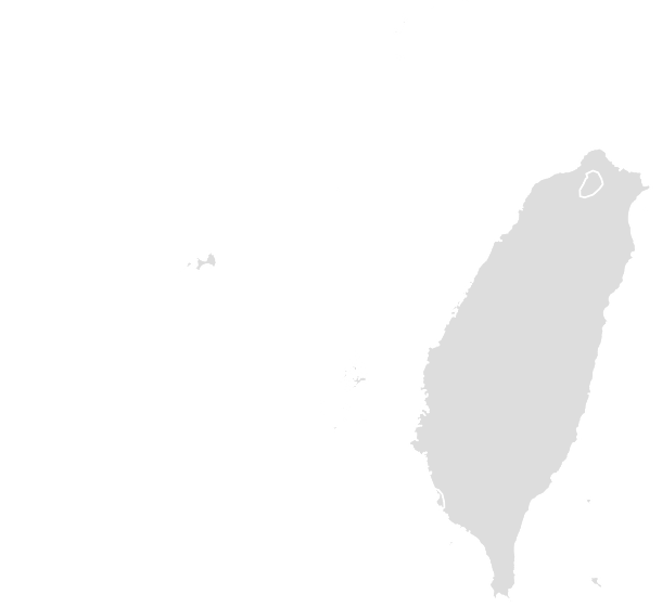 Printable Outline , Blank TAIWAN Map (Grey Scale)
