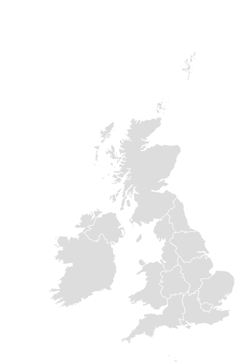 Printable Outline , Blank UNITEDKINGDOM Map (Grey Scale)