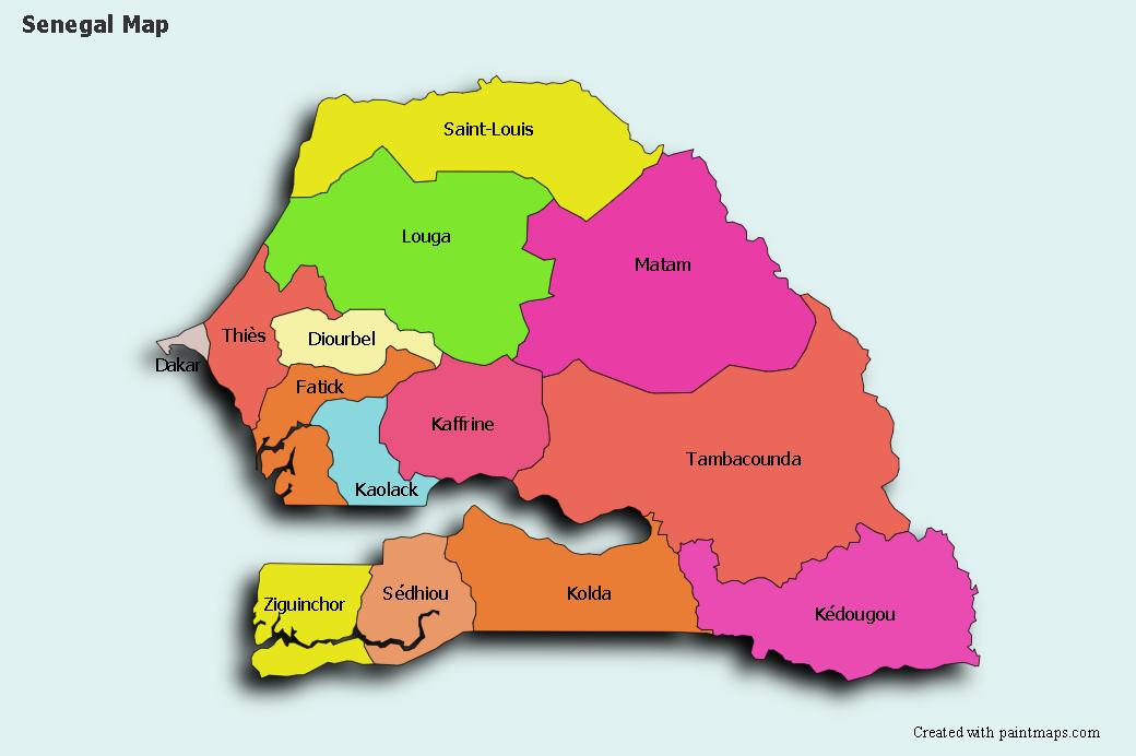 Genera Grafico De Mapa De Senegal