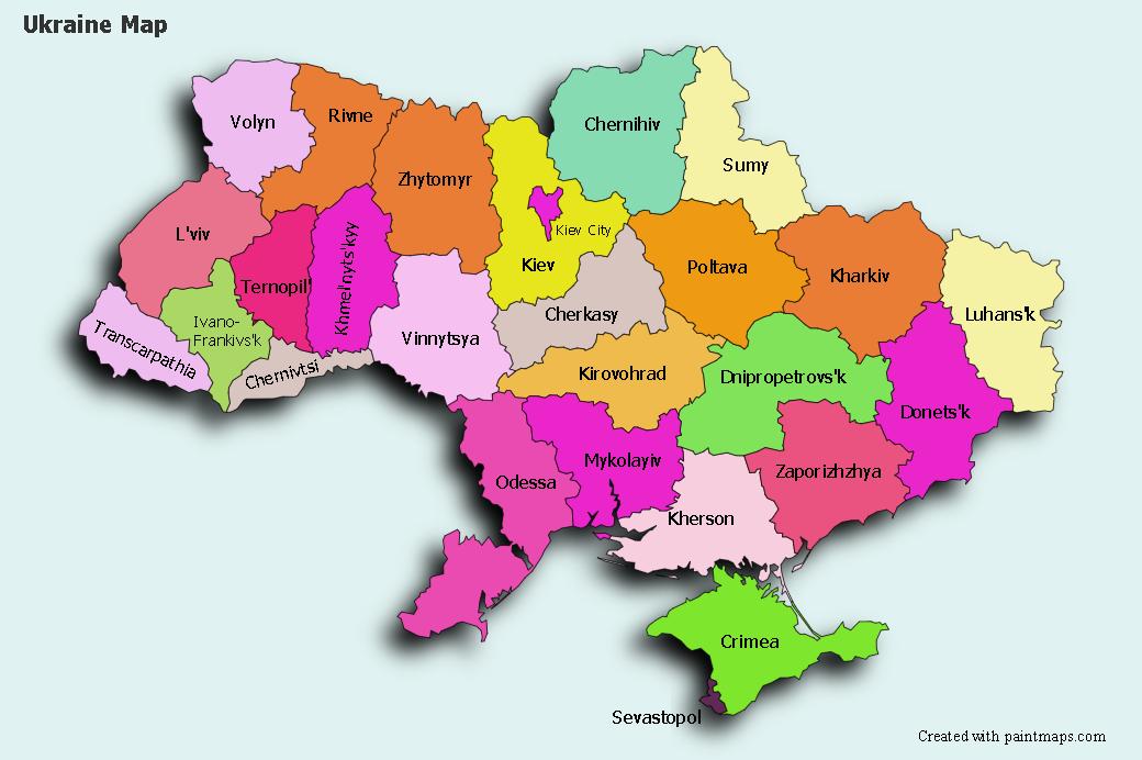 Create Custom Ukraine Map Chart With Online Free Map Maker - Mapchart