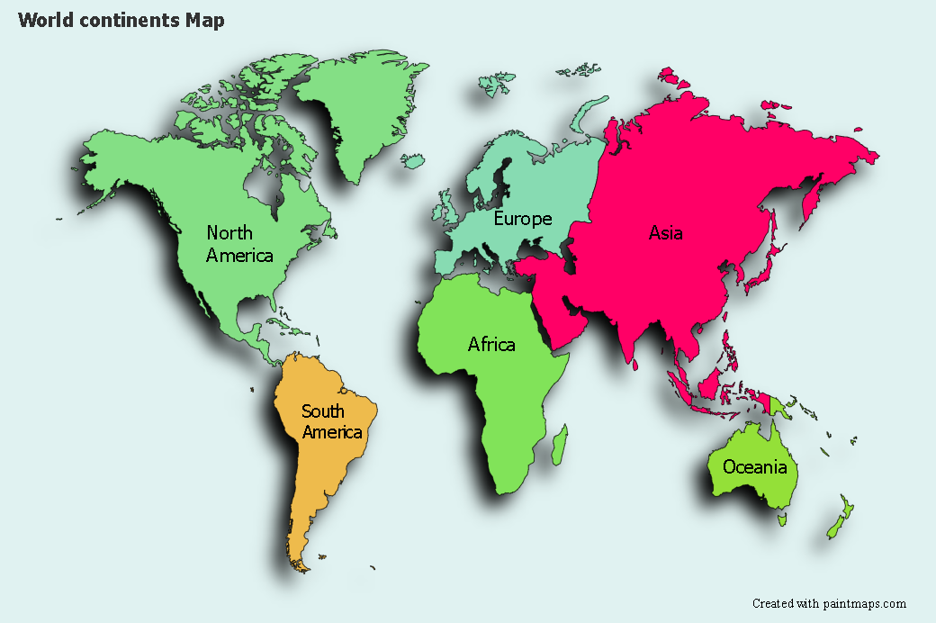 Picture of: Create Custom World Continents Map Chart With Online Free Map Maker