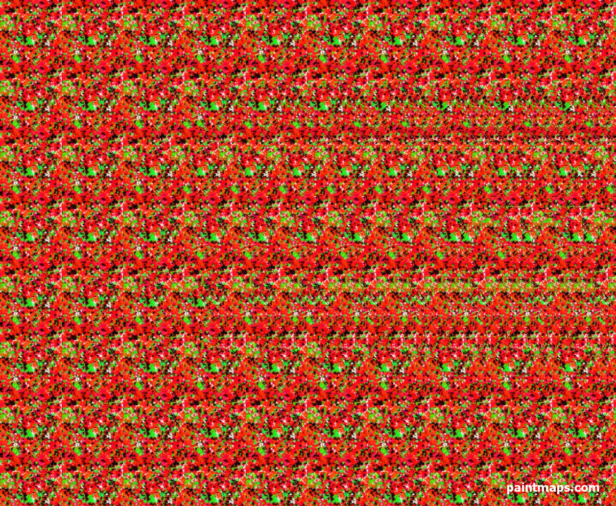 AZERBAIJAN Map in 3D Stereogram (Magic Eye)