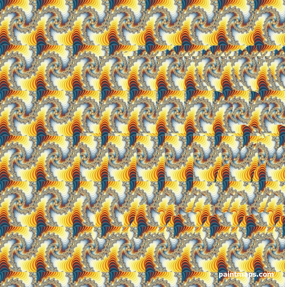 BOTSWANA Map in 3D Stereogram (Magic Eye)