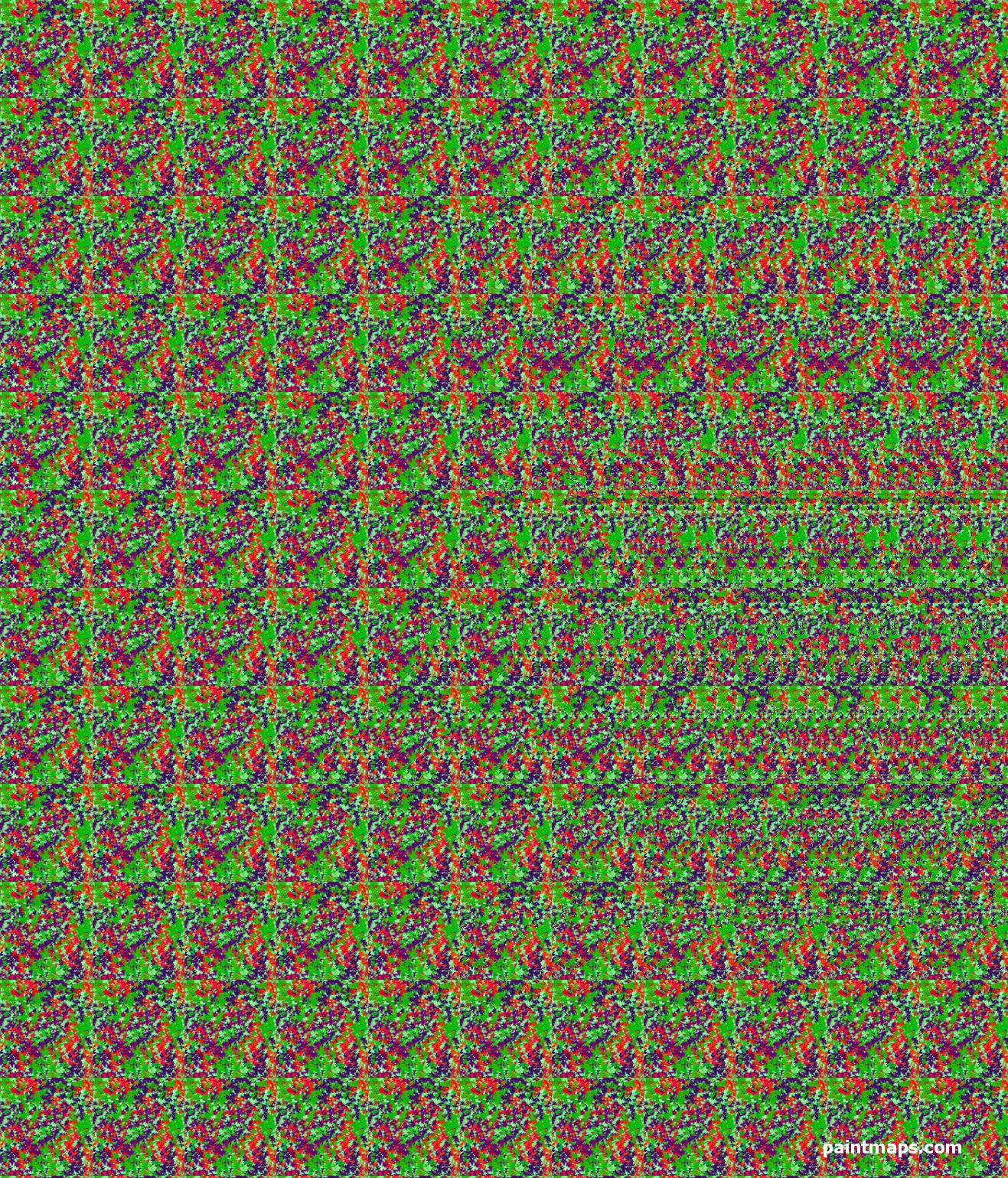 PHILIPPINES Map in 3D Stereogram (Magic Eye)