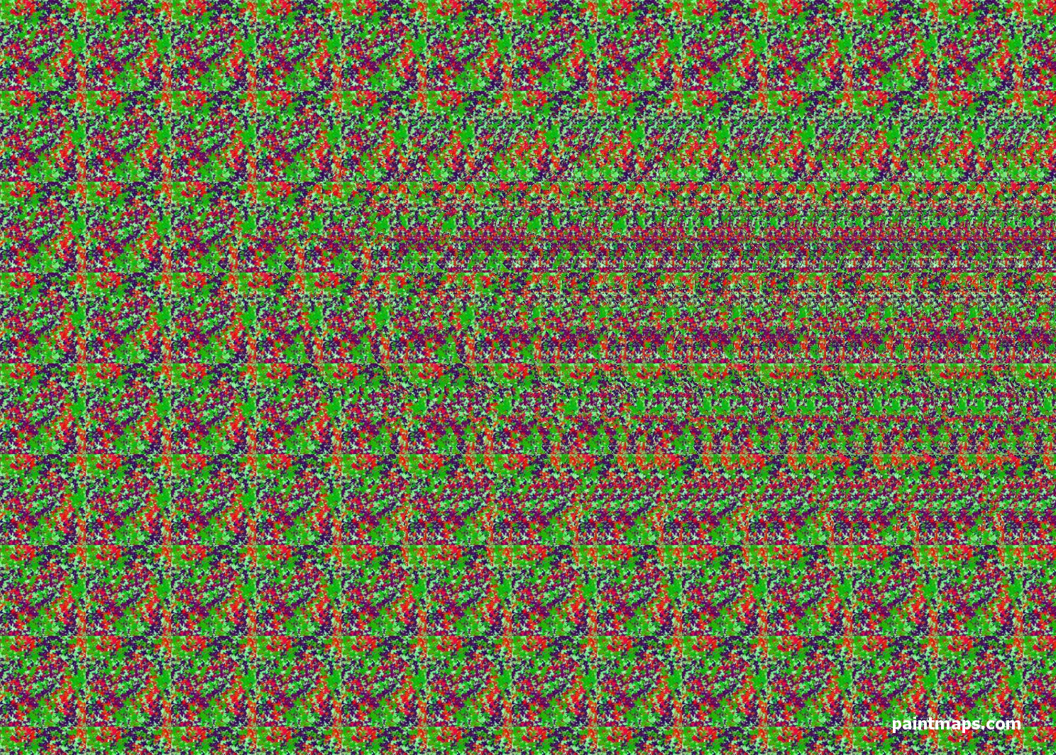 WORLD Map in 3D Stereogram (Magic Eye)