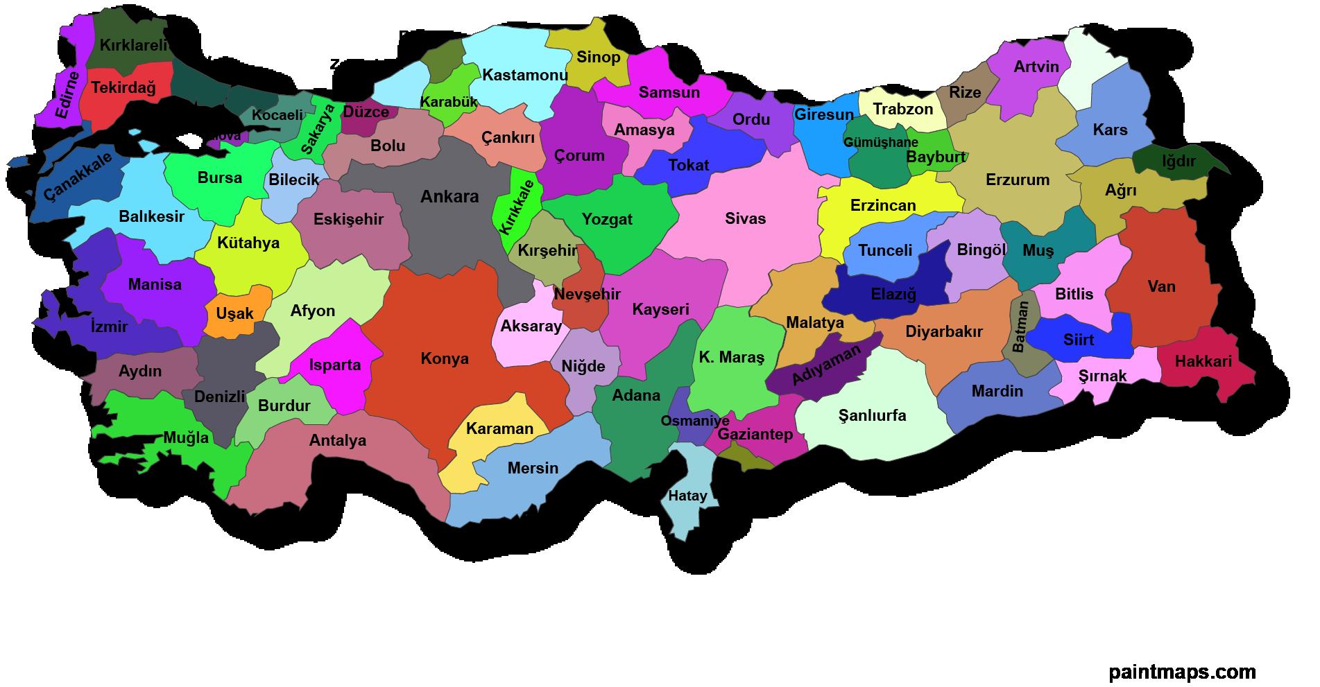 türkiye haritası ile ilgili görsel sonucu